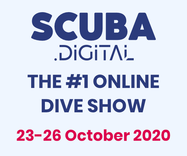 The logo & Dates from the online Scuba Digital Dive Show, held from the 23-26 October 2020.