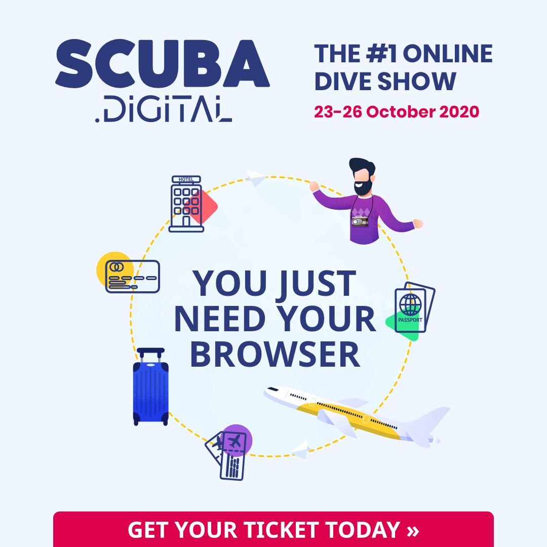 The cycle of Scuba Digital the online dive show 23-26 October 2020.
